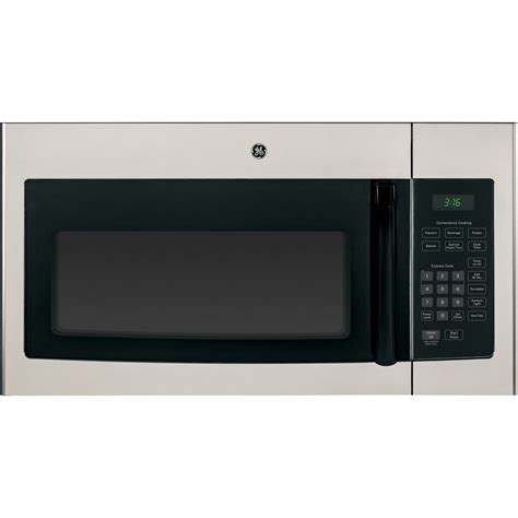 ge microwave with vent fan jnm3161mfsa ge 1 6 cu ft over the range microwave oven