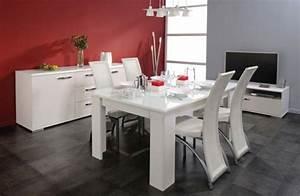 Meuble Salle à Manger Blanc : meubles leclerc 10 photos ~ Teatrodelosmanantiales.com Idées de Décoration