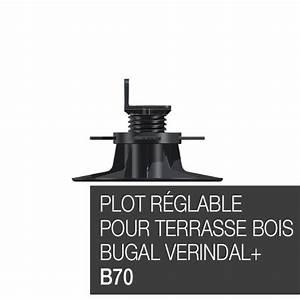 Plot Reglable Terrasse : plot r glable pour terrasse bois bugal verindal b70 ~ Edinachiropracticcenter.com Idées de Décoration