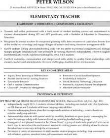 elementary school resume objective elementary resume sle teaching