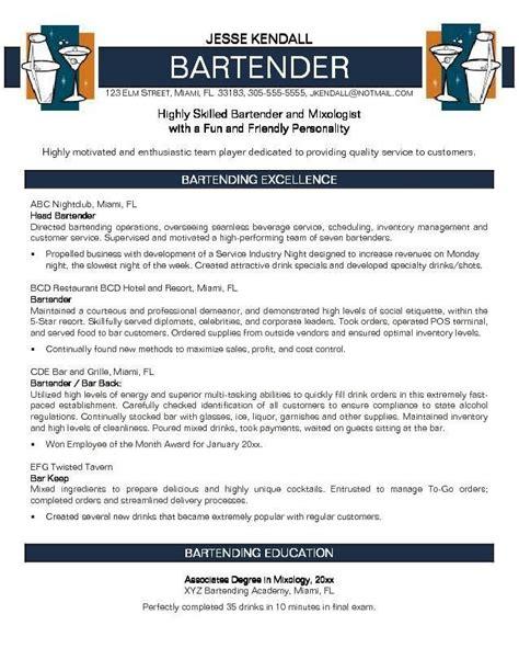 Bartender Resume by Bartender Resume No Experience Http Jobresumesle