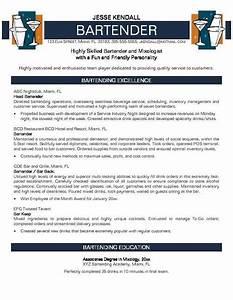 Bartender resume no experience http jobresumesample for Free bartender resume templates