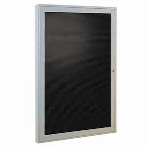 1 door 36quoth x 24quotw enclosed changeable letter board satin With outdoor changeable letter boards