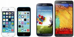 iPhone 5S and iPhone 5C vs Samsung Galaxy S4 and Galaxy ...
