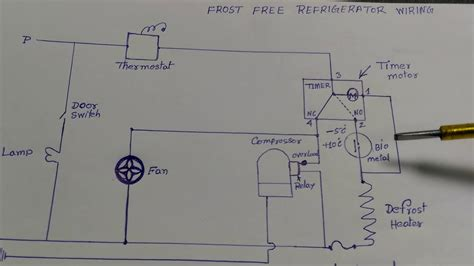 Frost Free Refrigerator Wiring Diagram Hindi Youtube