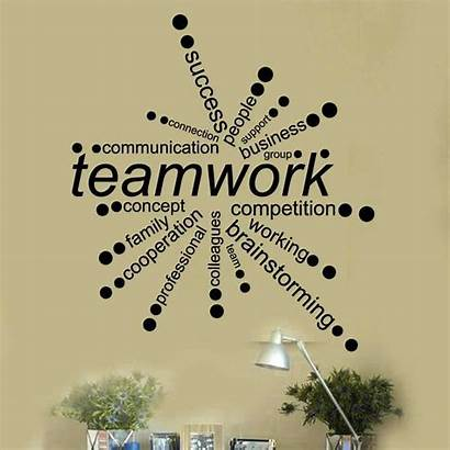 Teamwork Quotes Words Office Inspirational Space Travail