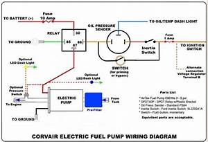 Wiring Diagram For An Electric Fuel Pump And Relay Di 2020
