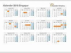 Feiertage 2019 Singapur Kalender & Übersicht