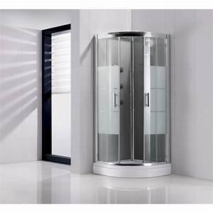 Pour ma famille cabine de douche 1 4 de cercle 90x90 for Porte douche 1 4 de cercle