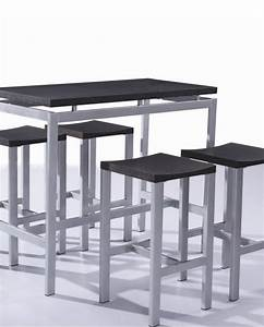 Table Haute 4 Personnes : 12 luxe de table haute 4 personnes ~ Melissatoandfro.com Idées de Décoration