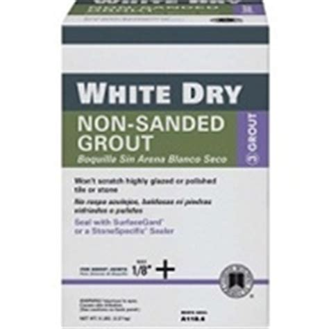 custom building products white non sanded tile grout