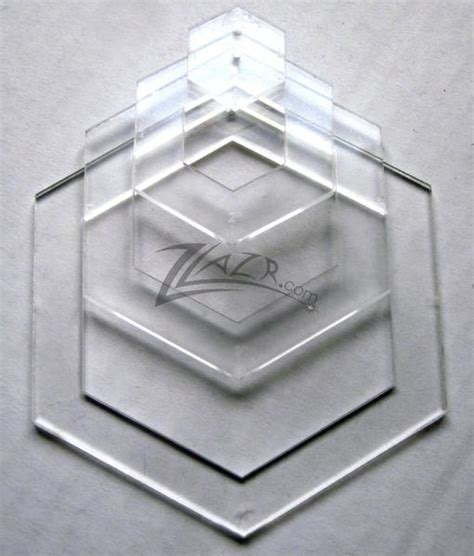 template nested    hexagon acrylic plastic stencil