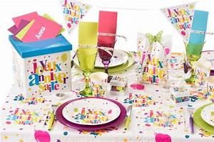 Idée Thème Anniversaire 30 Ans : d coration de table sur le th me joyeux anniversaire festif articles de f te ~ Preciouscoupons.com Idées de Décoration