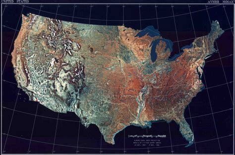 Landkarte USA (Topografische Karte) : Weltkarte.com ...
