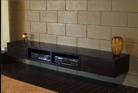 sleek floating media console wall mount tv stand wall
