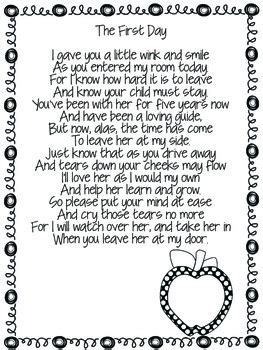 welcome to kindergarten poem for parents by the 526 | original 1991817 4