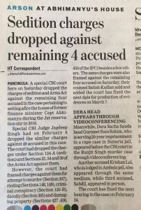 Sedition Charges Dropped Against Remaining 4 Accused