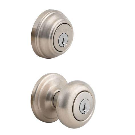 exterior door knobs kwikset juno satin nickel exterior entry door knob and