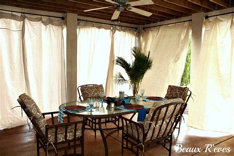 Outdoors Curtains :  No Sew Outdoor Curtains