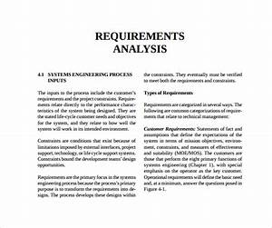 requirement analysis template video the software With software requirement analysis document template