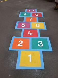 Hopscotch Playground Markings   IQ Playgrounds
