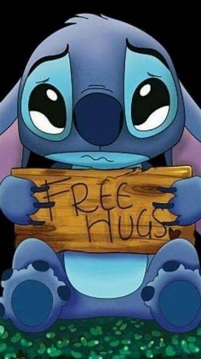 Stitch Sad Wallpapers Gambar Hugs Zedge Lilo