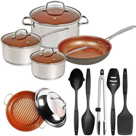 shop nuwave duralon ceramic  stick  piece cookware set  bbq grill pan utensils