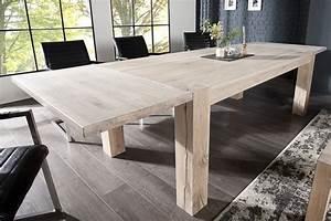 Esstisch Eiche Weiß Geölt : esstisch carvalho 160 240cm massivholz eiche natur wei ge lt dunord ~ Somuchworld.com Haus und Dekorationen