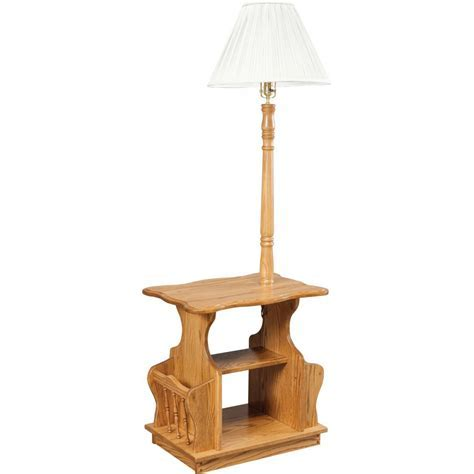 Magazine Table With Lamp   Amish Crafted Furniture