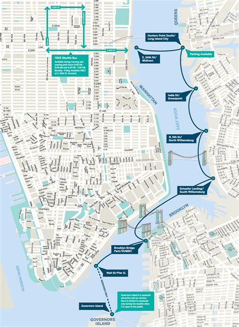 Boat Trip New York by East River Ferry Route Map New York Trip
