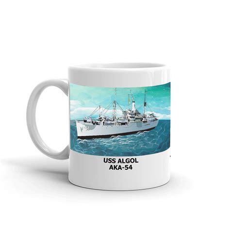 This is a simple coffee that features notes of caramel and nuts. USS Algol AKA-54 Coffee Cup Mug - Navy Emporium