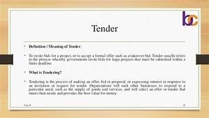 Cover Letter, Quotations, Tender & ETender
