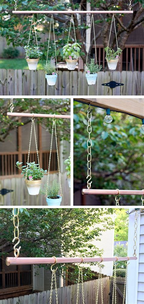 ideas  hanging herb gardens  pinterest