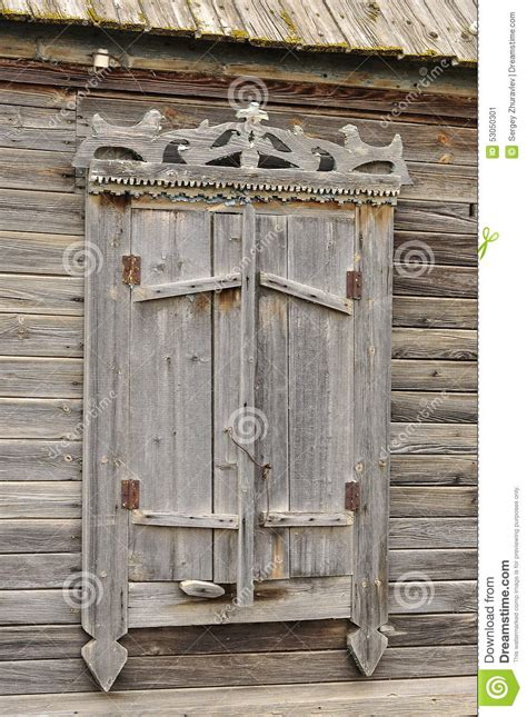 old fashioned l shades old shutters stock photo image 53050301