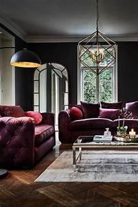 Möbel Trend 2018 : living room lamps shine trends 2018 velvet wohnzimmer ~ Watch28wear.com Haus und Dekorationen