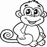 Coloring Monkeys Monkey Animated Cartoon Stackbookmarks sketch template