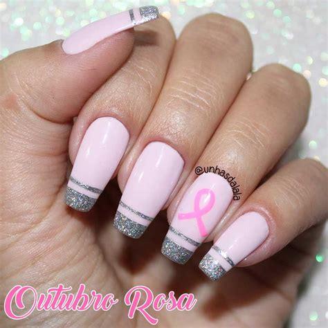 nägel weiß rosa unhas decoradas outubro rosa unhas da lal 225