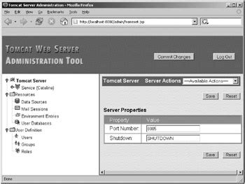 using the tomcat administration tool pro apache tomcat 5 5 5 experts voice in java