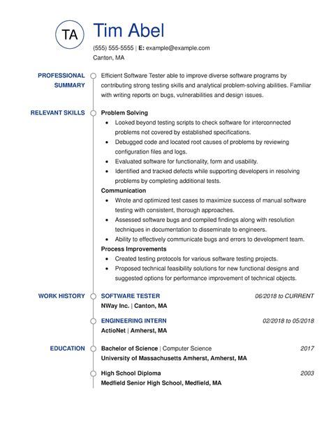 Software Tester Resume Sle Australia by 30 Resume Exles View By Industry Title