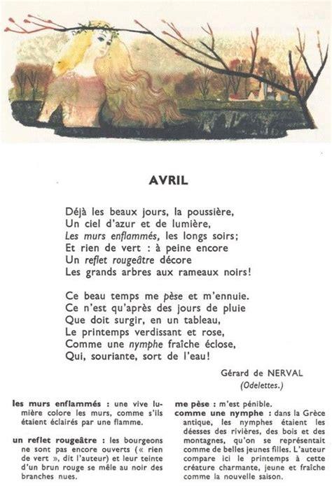 foto de AVRIL (Gérard de Nerval) Poésie Pinterest Poem