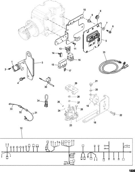 MerCruiser MX 6.2L MPI Bravo Electrical Components Parts