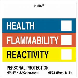 original hmisr labels without chronic hazards box With hmis labels printable