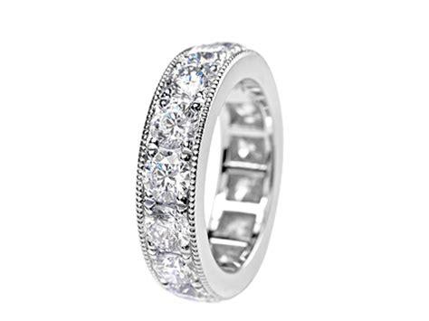 plain engagement ring with diamond wedding band platinum weddings rings diamond wedding bands eternity rings
