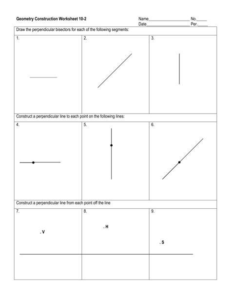 geometry construction worksheet 10 1
