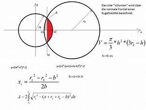 Flächenintegral Berechnen : volumen volumenbestimmung einer kugelkalotte mathelounge ~ Themetempest.com Abrechnung