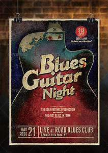 Blank Vintage Blues Poster Template » Dondrup.com