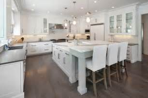 kitchen island with raised bar l shaped bar design ideas