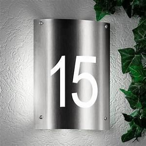 Plaque De Rue Personnalisée Extérieur : lampe num ro de rue votre clairage ext rieur avec num ro de maison aqua andra creativ 39 sign ~ Dode.kayakingforconservation.com Idées de Décoration