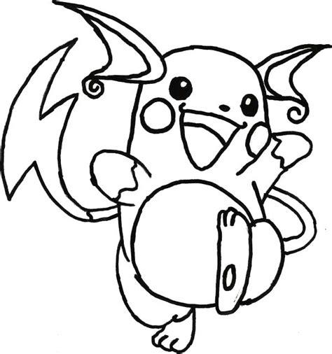 raichu skecth coloring page color luna
