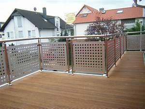 Sichtschutz Für Balkongeländer : balkongel nder edelstahl mit alu lochblech balkon gel nder ebay ~ Markanthonyermac.com Haus und Dekorationen